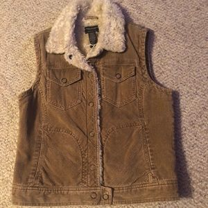 American Eagle Sherpa Lined Vest Corduroy M Womens